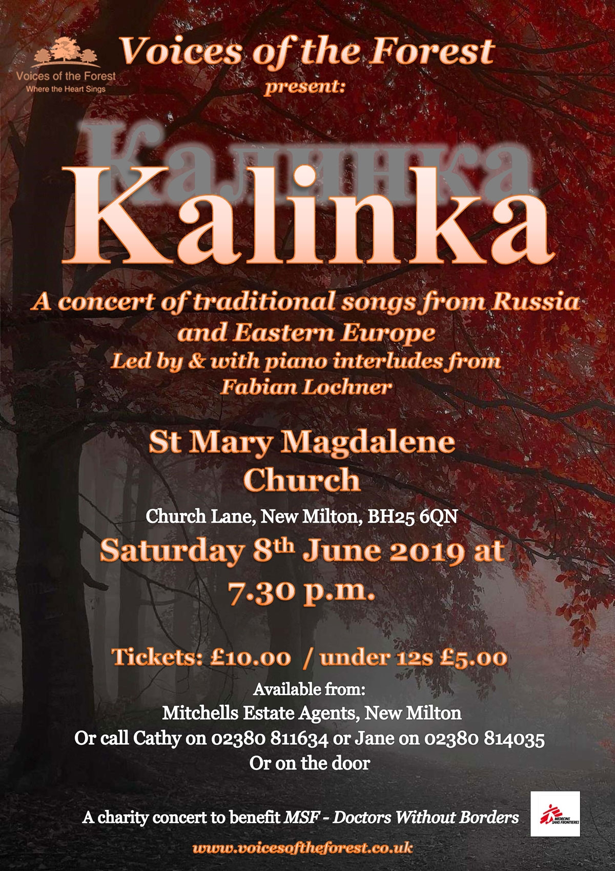 Our new programme of Russian and Eastern European songs