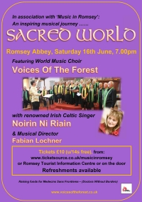 Sacred World - Romsey Abbey - Saturday 16th June 2018, 7pm