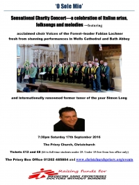 Saturday 17th September 2016 - Christchurch Priory - with Simon Long (tenor)