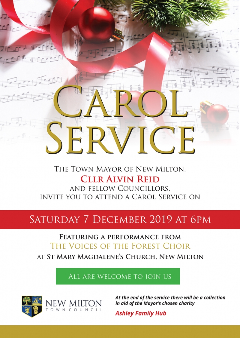 Saturday 7th December 2019, 6pm - New Milton Carol Service at St Mary Magdalene Parish Church